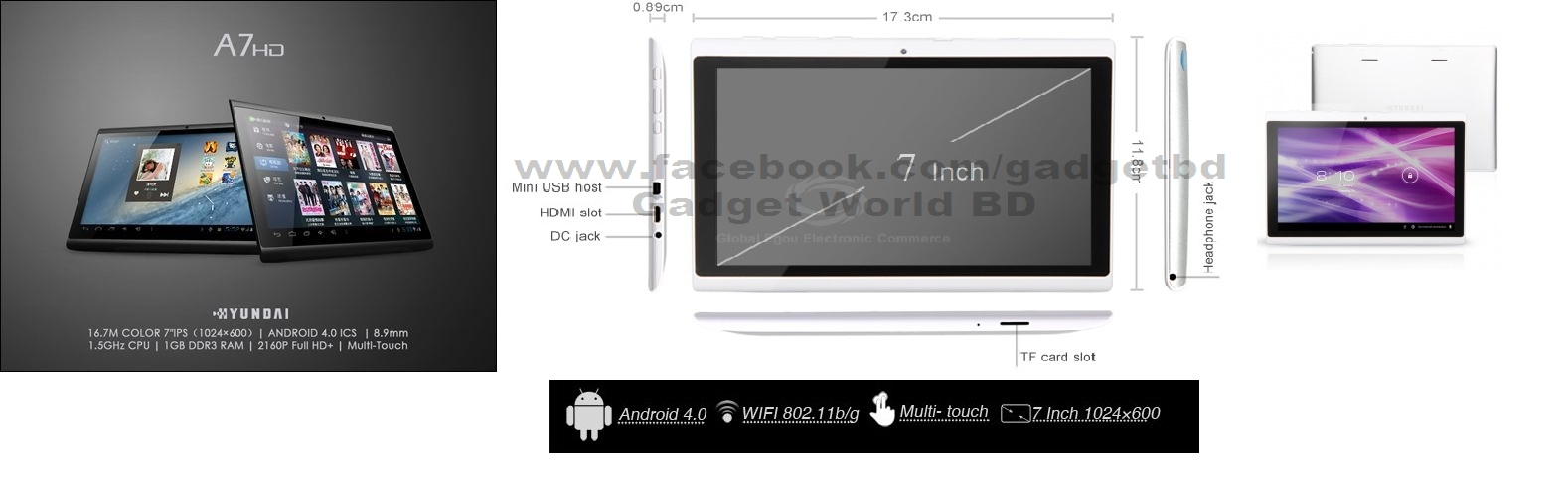 Hyundai tablet and other Gadgets | ClickBD large image 0