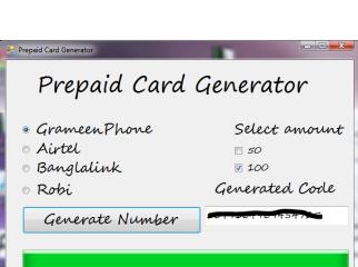 Prepaid Card Generator Banglalink Airtel Robi GrameenPhone