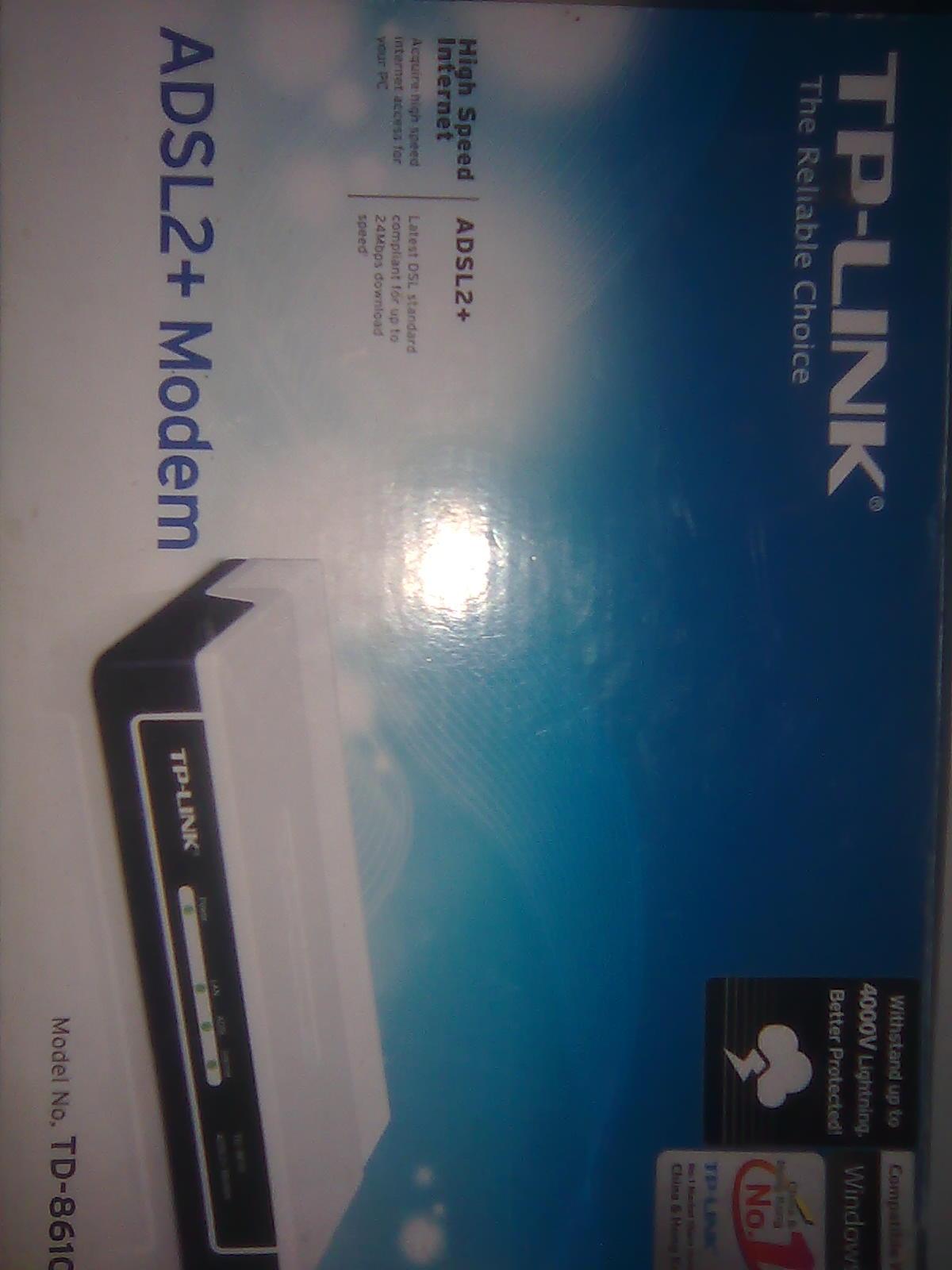 TPLINK ADSL2 MODEM td8610   ClickBD