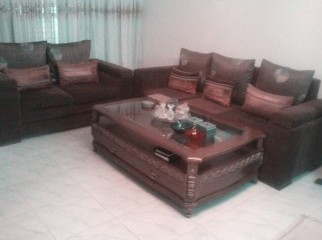 Sofa set with a center table