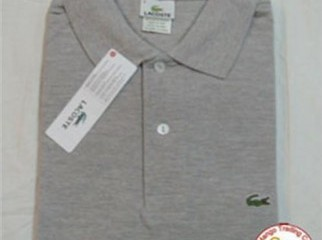Two Lacoste t shirts for sale. Colour - Black Gray