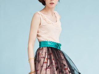 print chiffon skirts