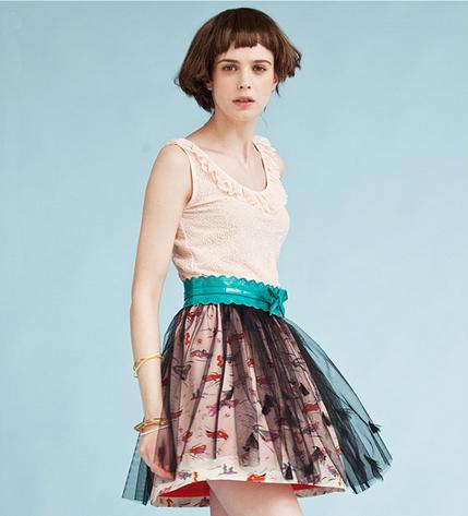 print chiffon skirts   ClickBD large image 0