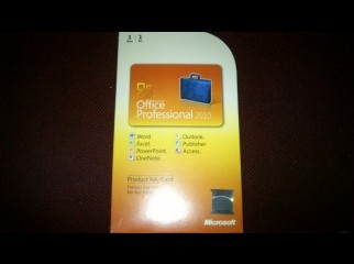 Microsoft Office Pro 2010 license copy.