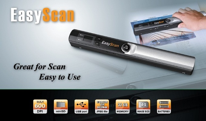Portable scanner A4 Color Photoelectric Sensor | ClickBD large image 0