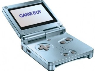 gameboy advanced sp with charger cover and six games