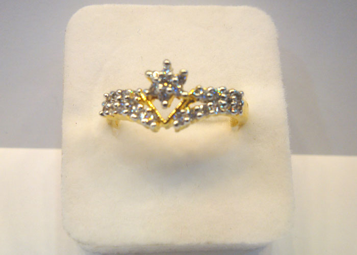 Finger Ring-122 American Diamond  | ClickBD large image 0