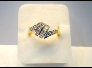 Finger Ring-123 American Diamond