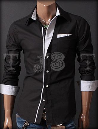 Black mens shirt | ClickBD large image 0