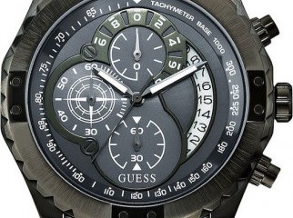 GUESS WATCH Men s Chronograph Gunmetal Ion Plate