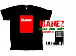 Ibanez Guitar Tshirt available at Creative production-bd