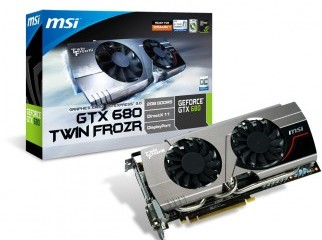 Graphics card MSI Gtx 680 twin Frozer 2GB