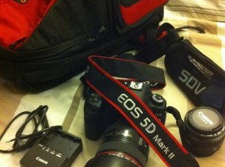 Almost brand new 5D Mark 2 and accessories for sale