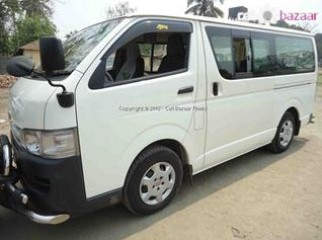 hiace diesel for rent