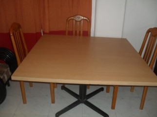 Square Table with 4 chairs