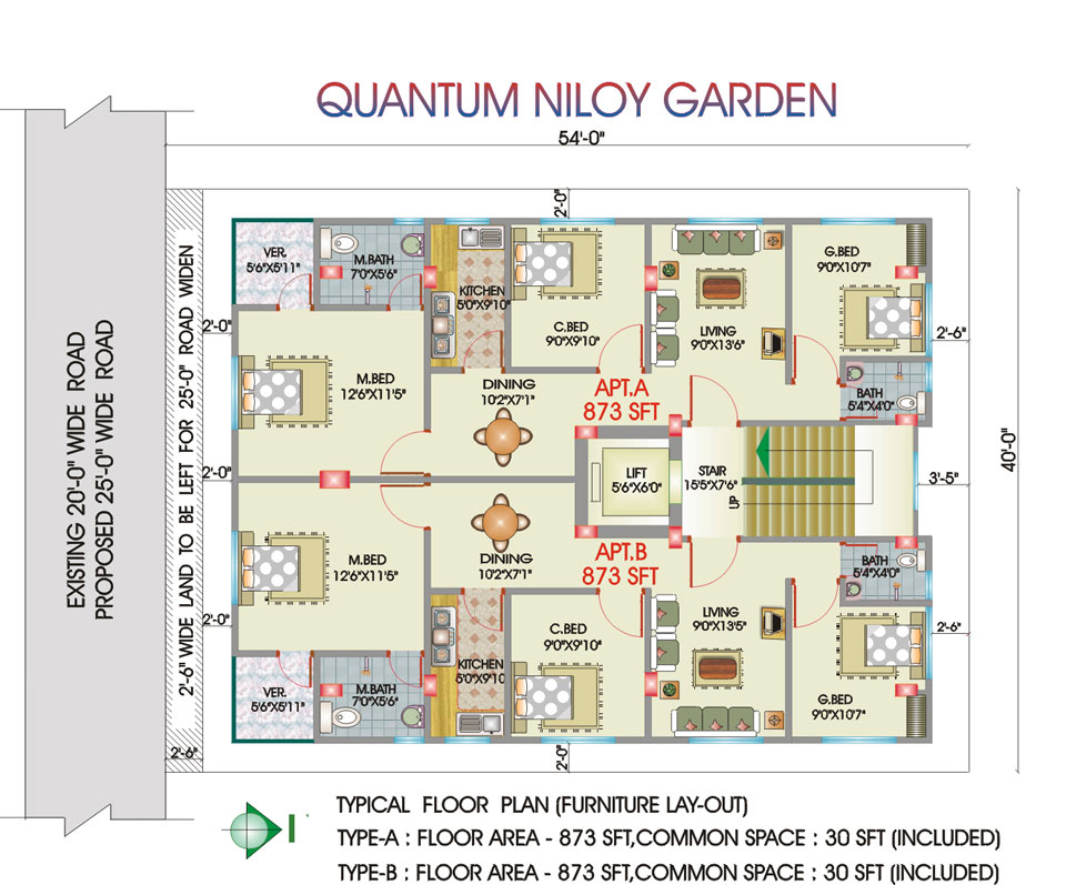 Residential Flat Quantum Niloy Garden At South Banosree