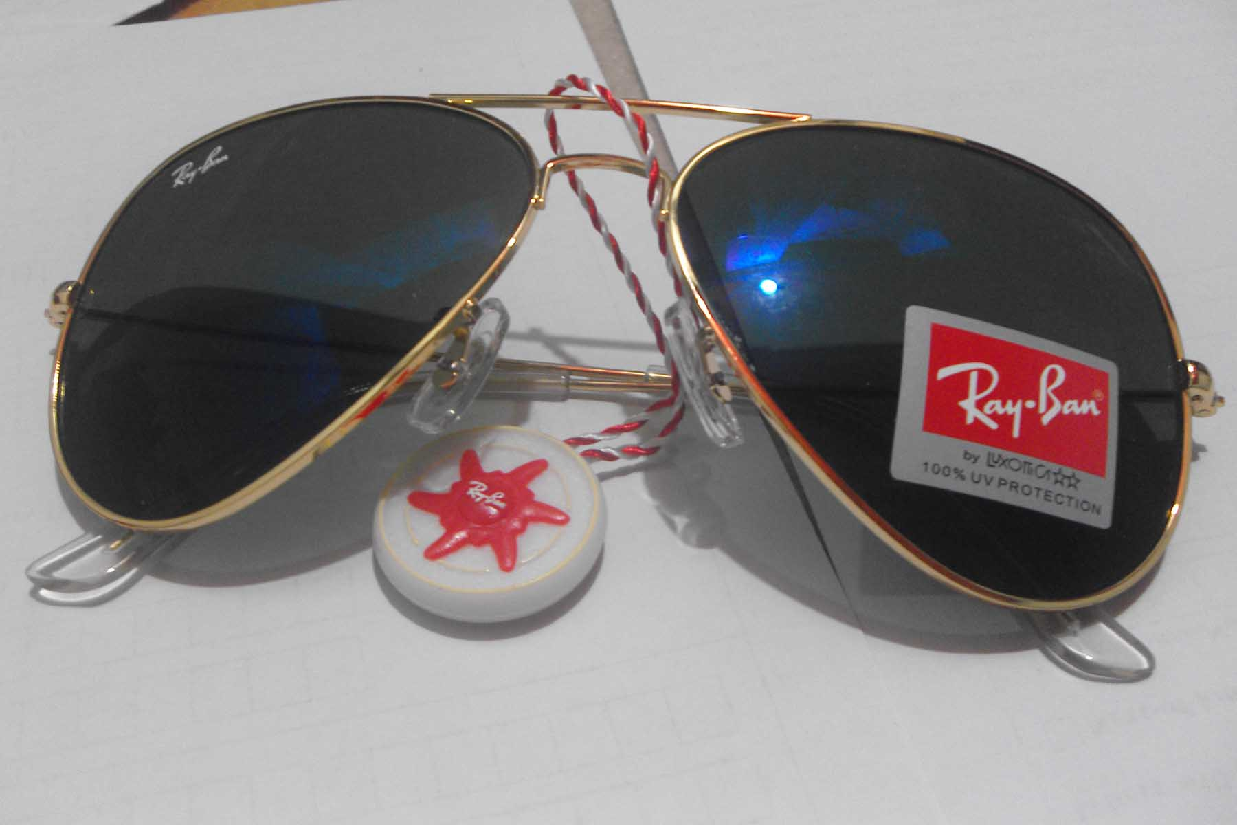 ray ban rb 3026 unisex blue mercury  ray ban 3026 golden frame blue mercury glass