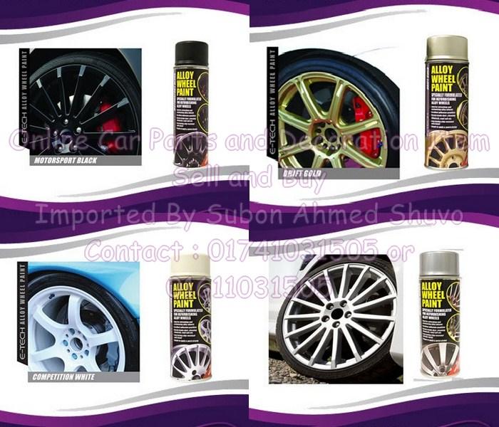 Car Alloy Wheel Spray Metallic Paint 400ml Clickbd