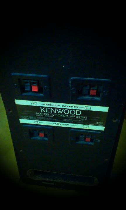KENWOOD DUAL 8 INCH SATELLITE SUBWOFFER made in japan  | ClickBD large image 0