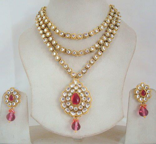 cceaf8af2e beautiful kundan necklace discounted price   ClickBD large image 0