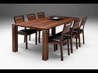 Solid wooden Dining table 6 chair set