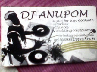 Need any Dj party just knock Me........