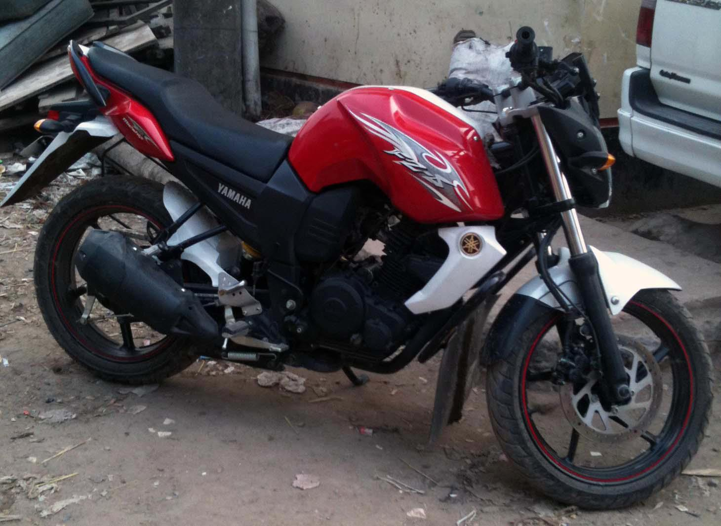 yamaha fzs red 2012 lastest model showroom condition   ClickBD large    Yamaha Fzs 2012
