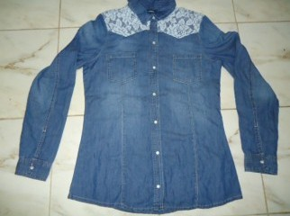 Ladies denim long shirt
