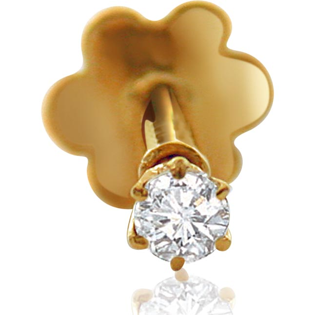 GOLD DIAMOND NOSEPIN FOR HER Valentine s Day Special