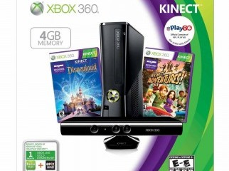 Xbox 360 gb kinect 2 games brand new USA