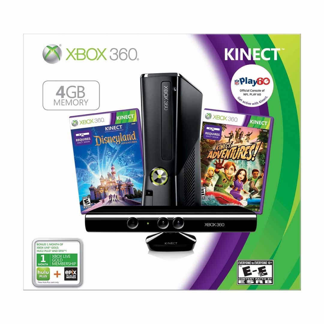 xbox 360 gb kinect 2 games brand new usa clickbd. Black Bedroom Furniture Sets. Home Design Ideas