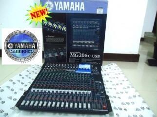 New Yamaha Mixer MG206C-USB Intact Carton .
