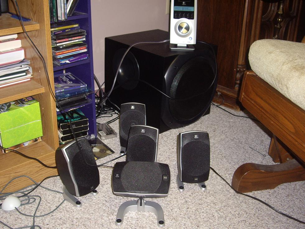 Logitech Z5500 Hometheater 10 deep bass subwoofer 505