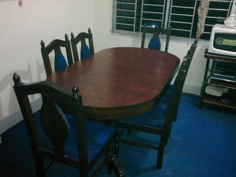 6 Chair Segun Wood Dining Table Clickbd