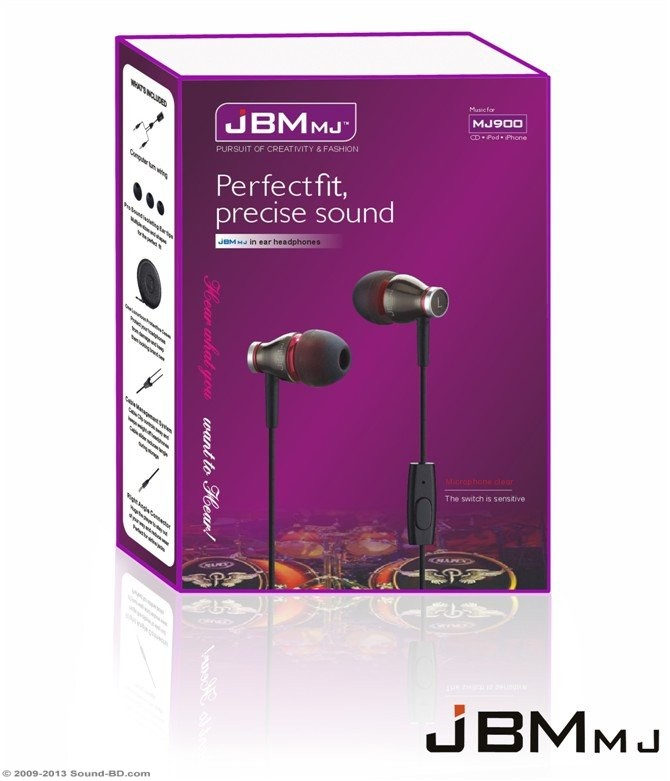 JBM-MJ900 IN-EAR HEADPHONE WITH MIC | ClickBD large image 0