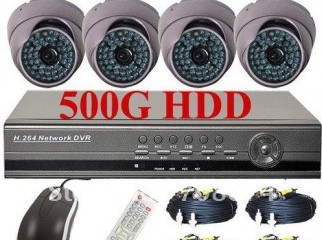 4 Channel DVR H264 with 4 Camera with Full networking