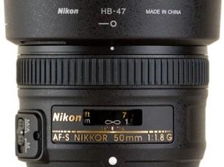 NIKON 50mm 1.8G LENS. BRAND NEW . 01715914144