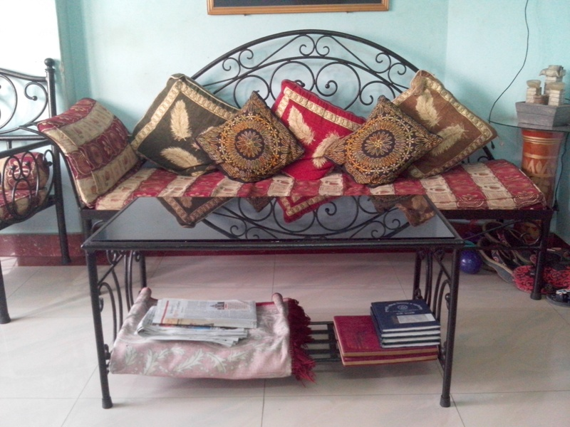 Nice EXCLUSIVE WROUGHT IRON SOFA SET WITH DIVAN AND CENTER TABLE | ClickBD Large  Image 4
