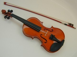 Chinese Violin and Musical Stand