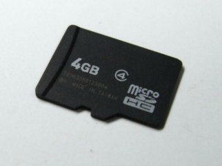 4 GB sandisk micro sd memory card