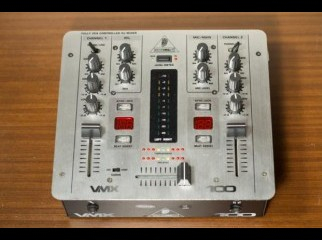 PRO MIXER VMX100 Professional 2-Channel DJ mixer with BPM