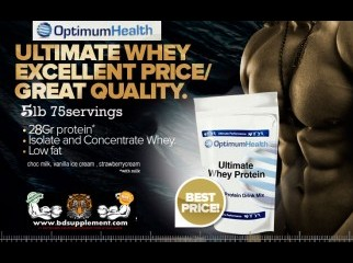 100 whey protein ultimate from optimum bdsupplement.com