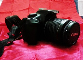 Canon 1100D with 18-55mm lens with Manuals Box etc